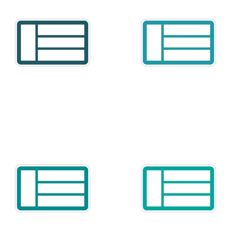 neutrality: Set of paper stickers on white background emirates flag