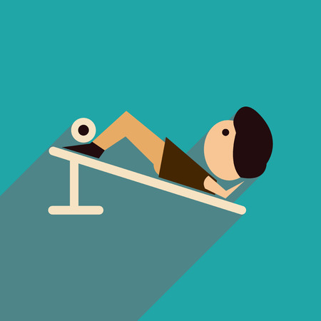 outwear: Flat web icon with long  shadow male sports Illustration