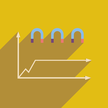 economic forecast: Flat web icon on white  background economic graph Illustration