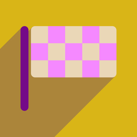 chequer: Flat web icon with long  shadow  checkered flag