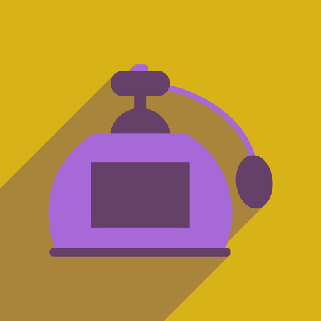pulverizer: Flat web icon with long  shadow perfume