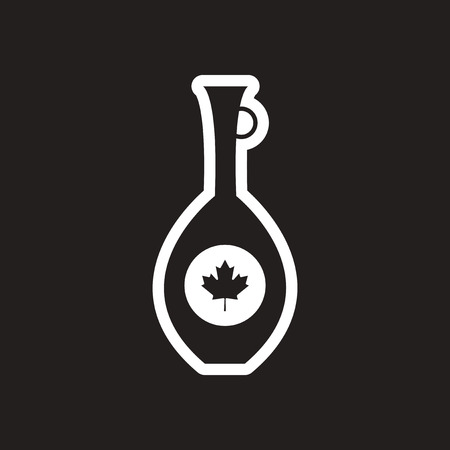 stylish black and white icon Canadian pitcher