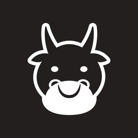 yoke: stylish black and white icon Indian cow