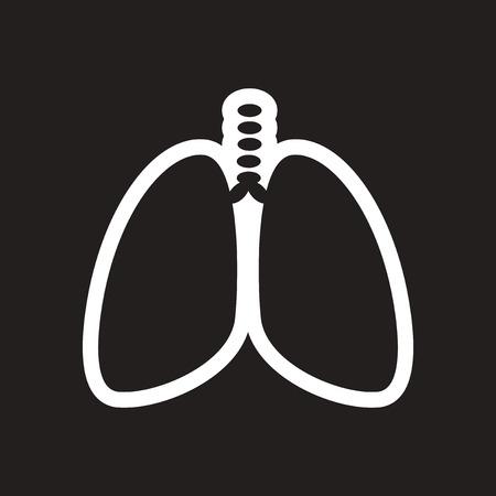 medical ventilator: stylish black and white icon human lungs Illustration