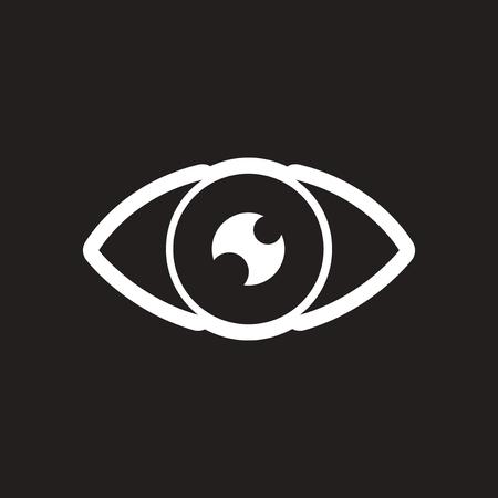 human eye: stylish black and white icon human eye Illustration