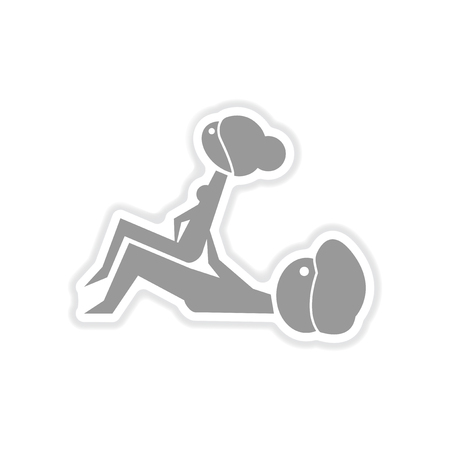 paper sticker on white background  Kamasutra positions