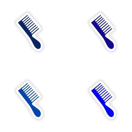 assembly realistic sticker design on paper toothbrush