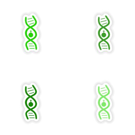 assembly realistische sticker ontwerp op papier vrouwelijke
