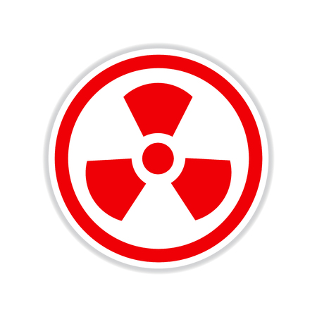 paper sticker on white  background toxic symbol Illustration
