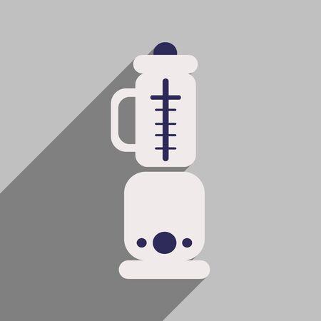 food processor: Flat icon with long shadow food processor Illustration