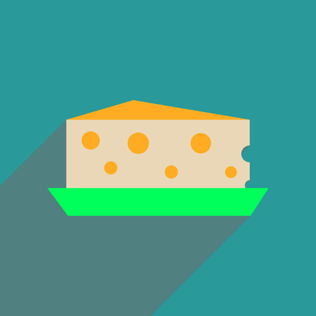 bri: Flat web icon with long  shadow cheese Holland
