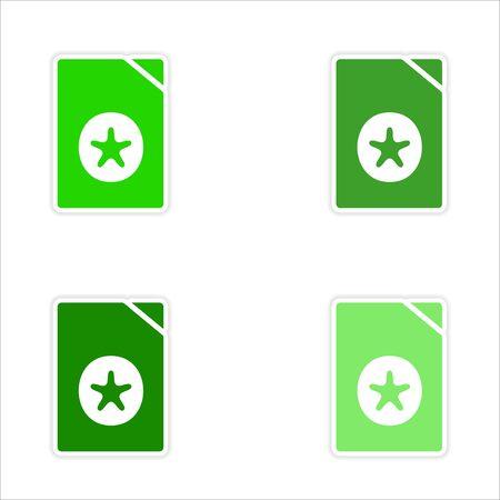 montage realistisch stickerontwerp op papieren documenten