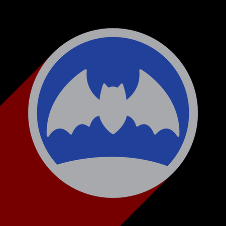moon shadow: Flat with shadow icon and mobile application bat moon