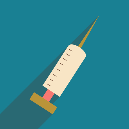 injections: Flat with shadow icon and mobile application injections