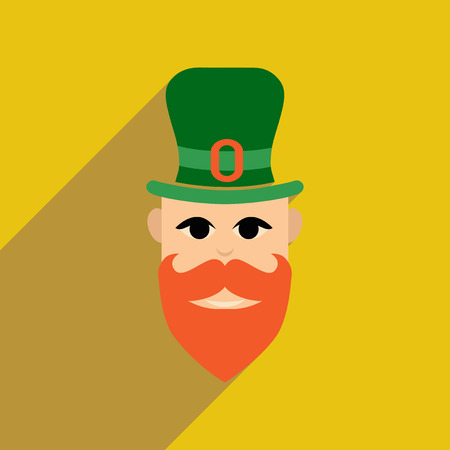 patrik: Flat web icon with long shadow Irish man