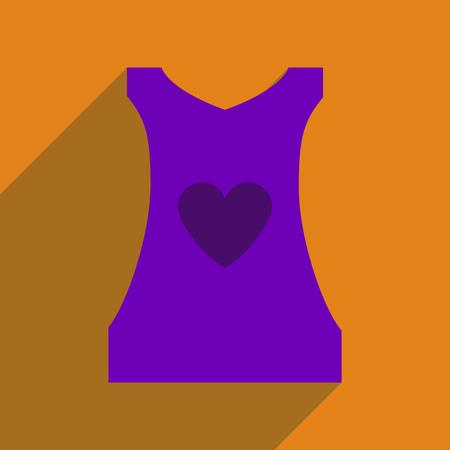 blusa: icono de plano con la sombra larga para mujer de la blusa