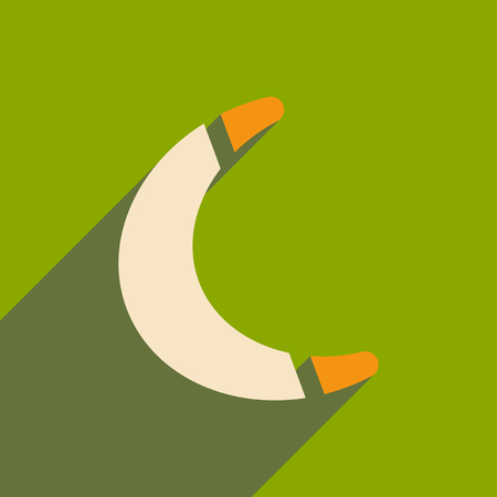 flat icon with long shadow toy boomerang Illustration