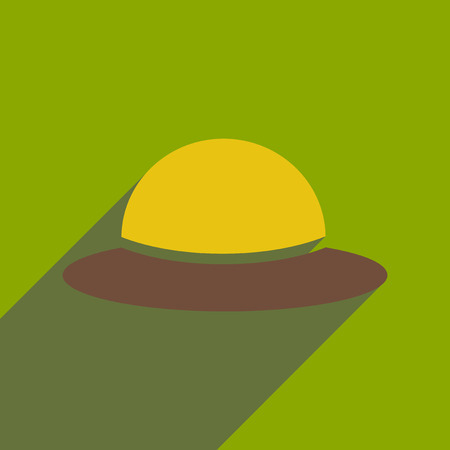 flat icon with long shadow womens hat Illustration