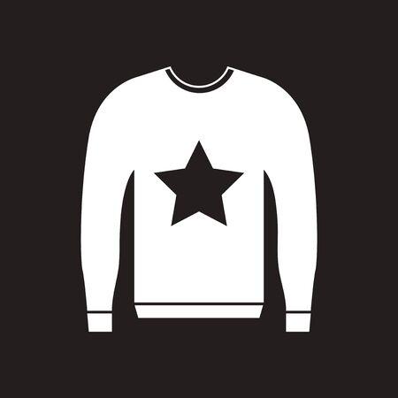 informazioni per fd515 4b89e Icona piana in maglione uomo bianco e nero