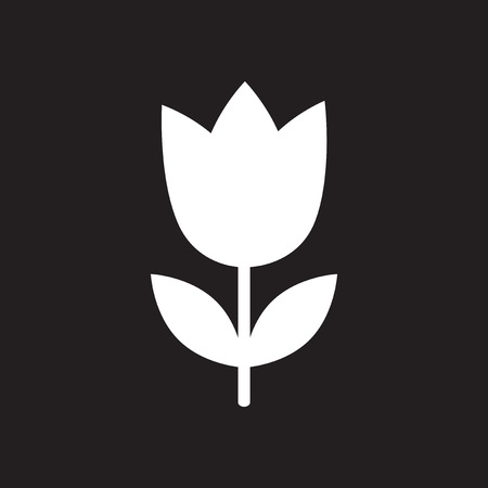 margerite: Flat icon in black and white flower