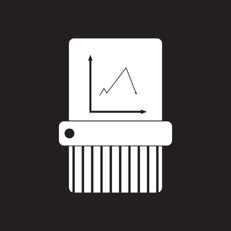 Flat icon in black and white shredder
