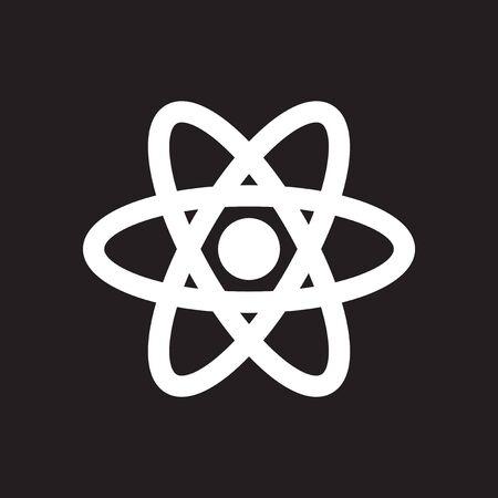 黒と白の atom でフラット アイコン 写真素材 - 72681345