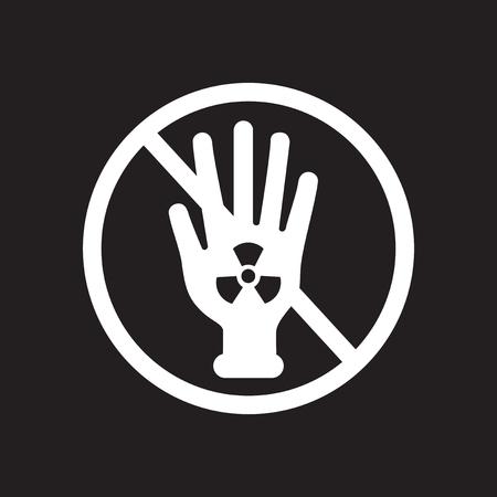 Flat icon in black and  white radioactivity Stock Photo