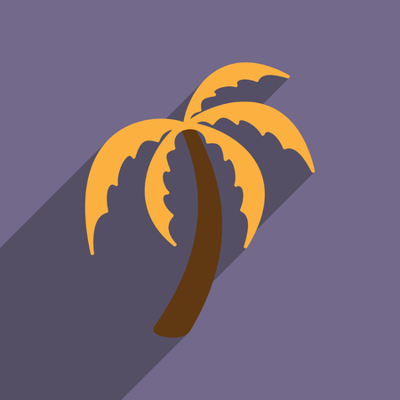 Modern flat icon with long shadow Indian palm Illustration