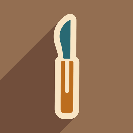 Icon of dental Instrument in flat style