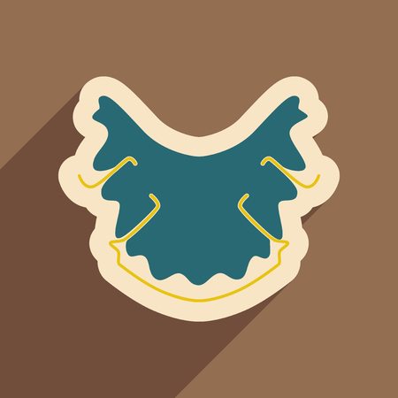 Icon of dental caries in flat style Illustration