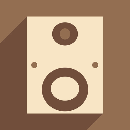 Flat with shadow icon and mobile applacation subwoofer