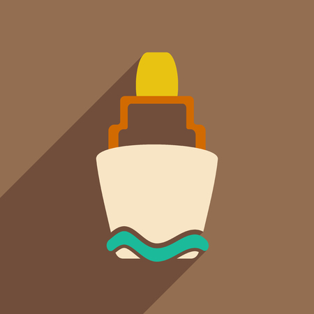 Flat with shadow icon and mobile applacation buoy
