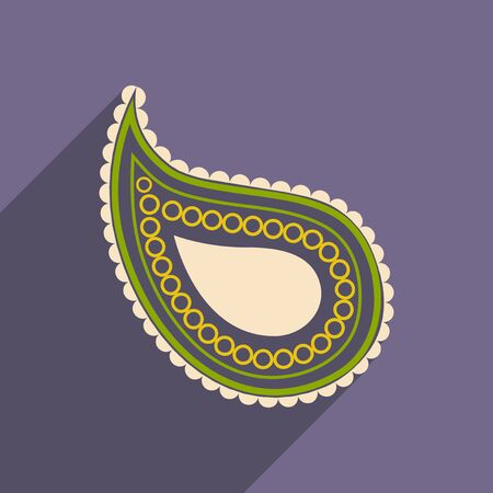 outmoded: Modern flat icon with long shadow Indian cucumber Illustration