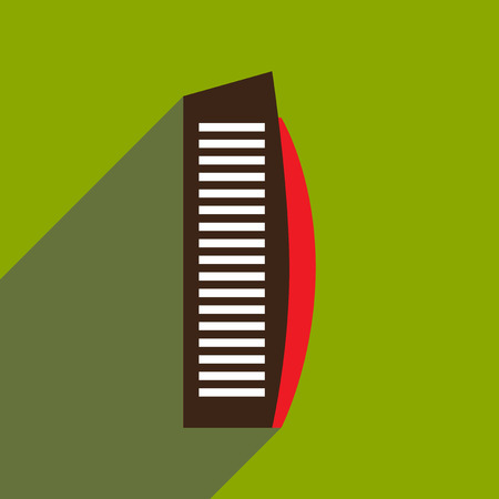 flat icon with long shadow Arab hotel Illustration