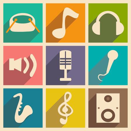 Vlak met schaduwconcept en mobiele applicatie muziek Stockfoto - 75390755