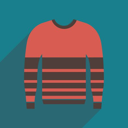 Flat icon with long shadow Men Sweater