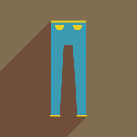 Flat icon with long shadow mens pants