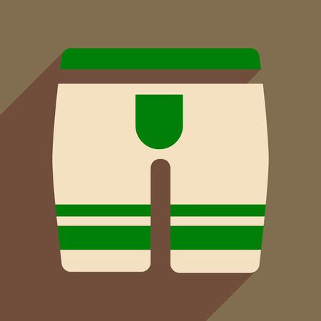 Flat icon with long shadow  mens underwear Illustration