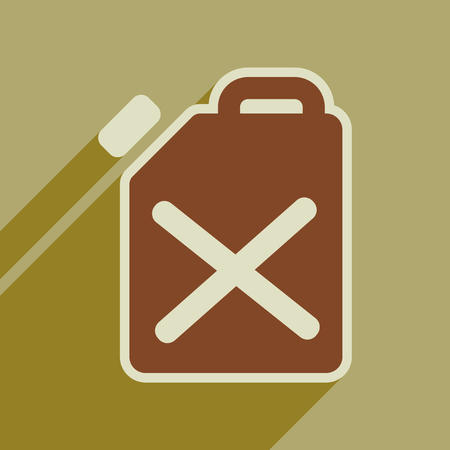 Flat web icon with long  shadow jerrycan Illustration