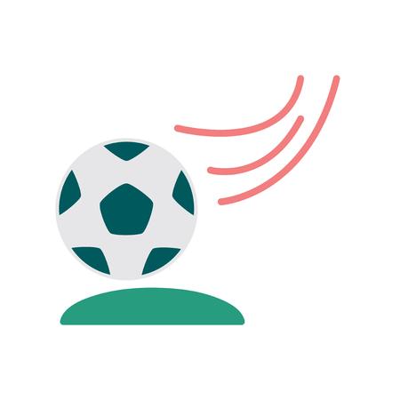 soccer goal: Flat web icon on white background  soccer ball Illustration