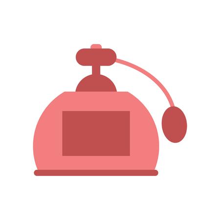 pulverizer: Flat web icon on white background perfume Illustration