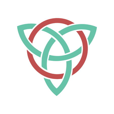Flat web icon on white background celtic symbol Illustration