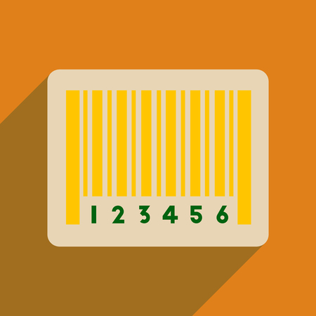 Flat web icon with long  shadow bar code Stock Vector - 80444237