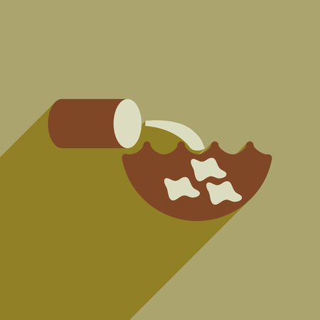 Flat web icon with long  shadow water pollution Illustration