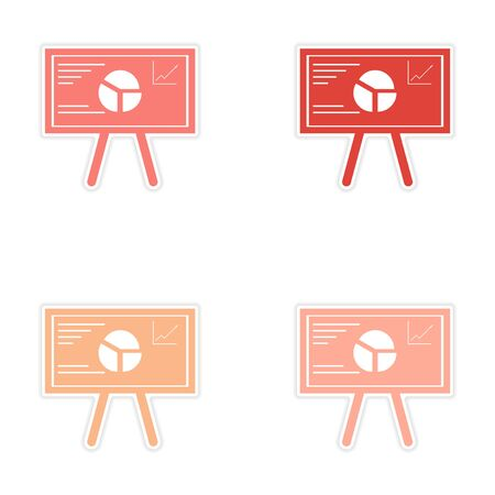 bleed: Set of stylish sticker on paper infographics at the presentation
