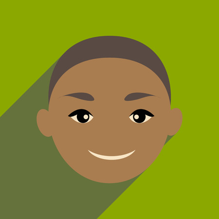 Modern flat icon with long shadow Indian boy