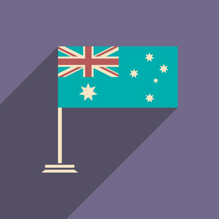 provincial: flat icon with long shadow flag of Australia
