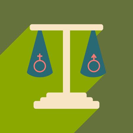 Gendergelijkheid icoon.