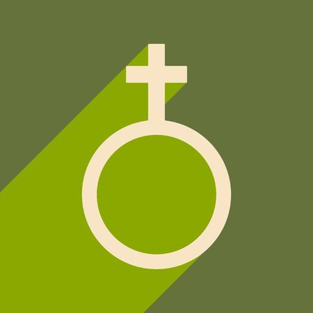 Gender symbol illustration..