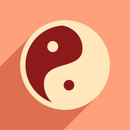 Yin yang symbol of harmony.